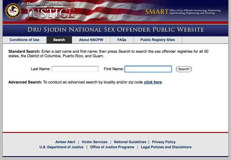Sex offender list website